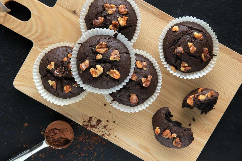 Receta de cupcake de brownie